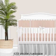 For our modern + minimal momma's out there. This ballet pink modern nursery look is complete with hand drawn stripes + coordinating Swiss cross pattern. We love how this look is modern and simple - leaving all the room for the baby to shine. Available in (9) color ways. Girl Crib Bedding Sets, Custom Baby Bedding, Girl Cribs, Baby Nursery Bedding, Boho Nursery, Baby Crib, Nursery Decor, Girl Nursery, Designer Baby Blankets