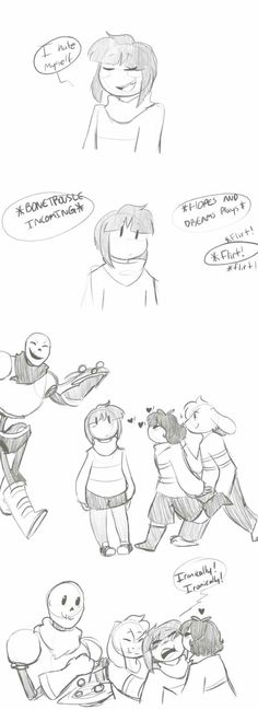 Ironically- Chara, Papyrus, Asriel, Frisk