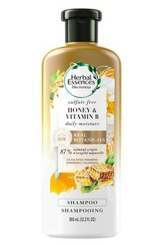 Protect your hair color with Herbal Essences Honey & Vitamin B Sulfate-Free Daily Moisture Shampoo. Shampoo For Damaged Hair, Shampoo For Dry Scalp, Sulfate Free Shampoo, Moisturizing Shampoo, Homemade Conditioner, Homemade Shampoo, Face Scrub Homemade, Hair Conditioner, Ph Balanced Shampoo