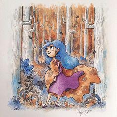 Eleanor painting close up. :) #eleanor #watercolor #illustration #painting #woodlands #angelasongart