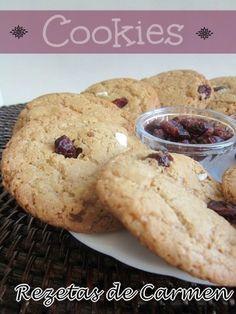 Cookies de avena, chocolate blanco y arandanos