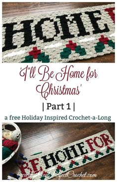 Create a Beautiful holiday-inspired afghan with our Christmas Crochet a Long. Free graph and instructions provided. Happy Holidays! #crochet #cornertocornercrochet #christmas #christmascrochet #I'llbehomeforchristmas #freepatterns #crochetalong #afghans