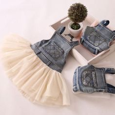 Denim Tutu Overall Dress by ButtonsandBowsInc on Etsy, $21.00