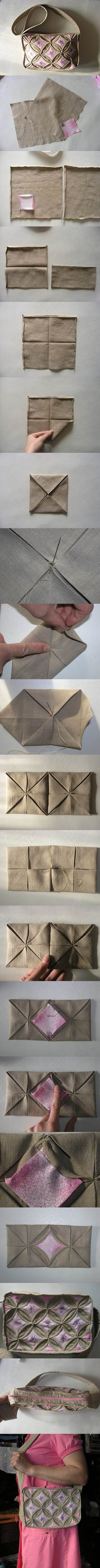 DIY Origami Style Handbag | iCreativeIdeas.com Like Us on Facebook ==> https://www.facebook.com/icreativeideas