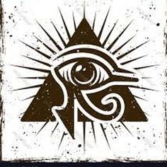 Eye of horus in triangle ancient egyptian symbol Vector Image ,