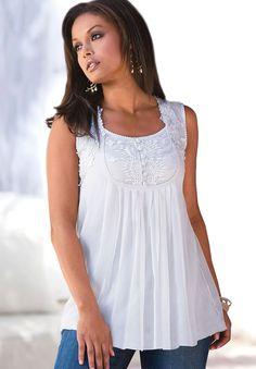 Plus Size Angel Chiffon Camisole by Denim 24/7 | Plus Size Shirts & Blouses | Roamans