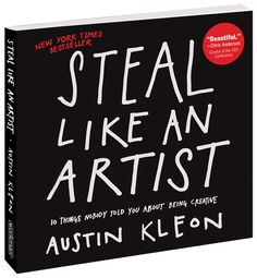 Steal Like An Artist by Austin Kleon: 1. Steal like an artist. 2. Don't wait until you know who you are to get started. 3. Write the book you want to read. 4. Use your hands. 5. Side projects and hobbies are important. 6. The secret: do good work and share it with people. 7. Geography is no longer our master. 8. Be nice. (The world is a small town.) 9. Be boring. (It's the only way to get work done.) 10. Creativity is subtraction. #Books #Creativity