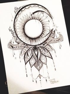 Moon tattoo ideas and my favorite lotus flower