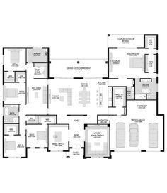 Oakdale - Fowler Homes 5 Bedroom House Plans, Family House Plans, New House Plans, Dream House Plans, Modern House Plans, House Floor Plans, Building Plans, Building A House, Fowler Homes