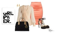 """""""Power"""" by ksims-1 ❤ liked on Polyvore featuring Lanvin, Jimmy Choo, Kate Spade, Michael Kors, Stupell, girlpower and powerlook"""