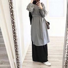 Modest Fashion Hijab, Casual Hijab Outfit, Hijab Dress, Fashion Outfits, Ootd Hijab, 70s Fashion, Muslim Women Fashion, Korean Girl Fashion, Mode Turban