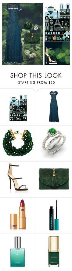 """Just Green"" by oksana-kolesnyk ❤ liked on Polyvore featuring Monde Mosaic, Notte by Marchesa, Chanel, Diamondere, Giuseppe Zanotti, Lipstick Queen, Urban Decay, Dolce&Gabbana and Bobbi Brown Cosmetics"
