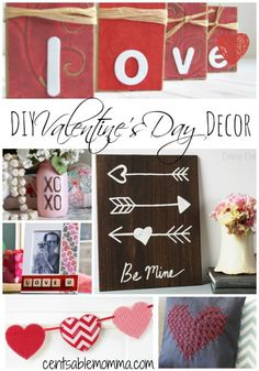 I love to decorate for the holidays, but I don't like to spend a ton of money on my decorations. That's why I love this list of DIY Valentine's Day Decor. There are tons of