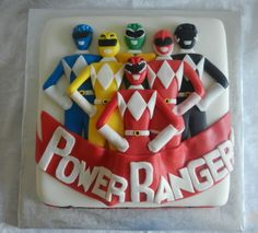 LOVE the look but I think I would make them less thick so that it's not a chunk of fondant you have to cut through. Fourth Birthday, 4th Birthday Parties, Dad Birthday, Birthday Bash, Birthday Celebration, Birthday Cakes, Birthday Ideas, Power Ranger Cupcakes, Power Ranger Cake