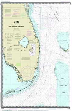 Cape Canaveral to Key West Nautical Chart printed on sailcloth for home décor wall art print. 10x14 Unique Textile Printing http://www.amazon.com/dp/B00OJ4UNQY/ref=cm_sw_r_pi_dp_rw0.ub0DXAVG0