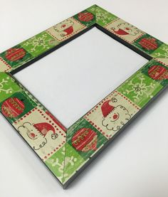 christmas frame 5x7 photo frame santa frame 5x7 frame holiday frame christmas picture frame 5x7