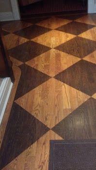 stenciled hardwood flooring in scarsdale