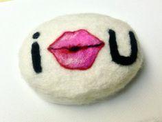 Felted Soap Be My Valentine Kiss Lips Handmade White Tea Ginger Shea Butter Original Design