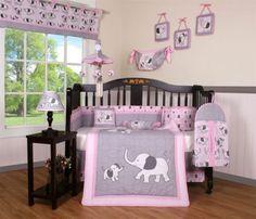 Baby Girl Elephant 13 Piece Nursery CRIB BEDDING SET in Baby,Nursery Bedding,Nursery Bedding Sets | eBay