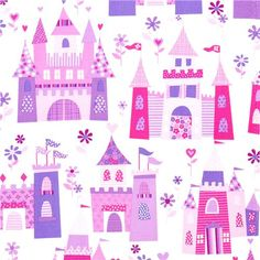 Michael Miller fabric fairy tale castle princess. Luv luv luv this!