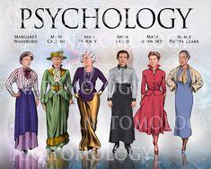 Large Women in Psychology Poster Psychology Tattoo, Psychology Posters, Psychology Memes, Psychology Studies, Personality Psychology, Health Psychology, Color Psychology, Psychology Experiments, Freud Psychology