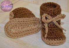 Size Newborn Handmade Crochet Baby Boots crochet by Hooked4Babies
