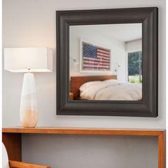 American Made Rayne Brazilian Walnut Wall/ Vanity Mirror