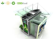 The EcoKiosk is a self-contained stall for street vendors that relies on clean, renewable energy and Earth-friendly components to make street vending green