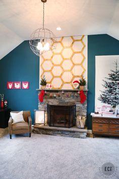 Fun fabric Christmas tree & paint dipped ornament garland.
