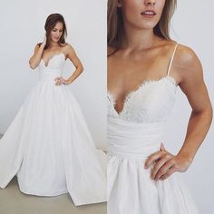 2017 White Long Wedding Dress, Straps Long Wedding Dress 2017  My email: modsele.com@hotmail.com please email which color you want after or before you place the order. Also you can put down your color or size or date requirement in the note box when you check out.  1. Besides the picture