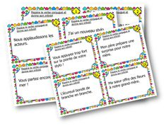 Cartes à tâches – Trouver l'infinitif du verbe Cycle 3, First Grade Math, Learn French, Math Centers, Grammar, Bullet Journal, Teaching, Activities, Education