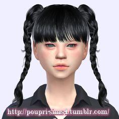 Sims 4 CC's - The Best: Hair by Poupri's Sims 4