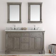 "Fresca Kingston 60"" Double Sink Bathroom Vanity with Mirror"