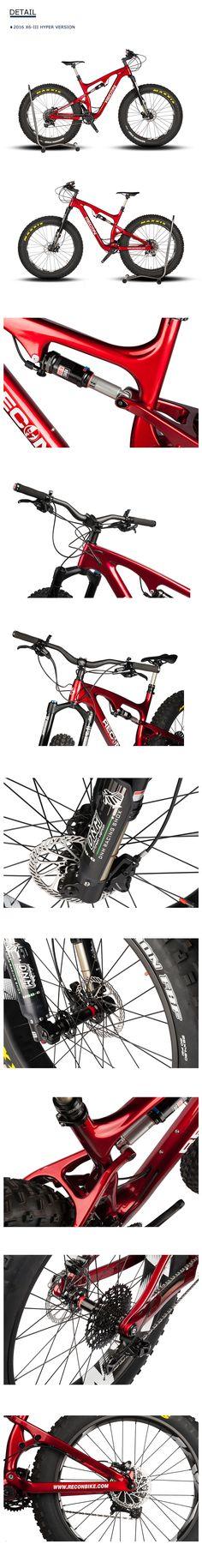 recon x6iii carbon full suspension fat bike