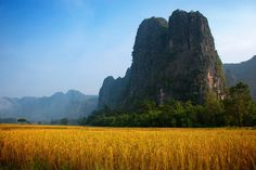 The Cliffs of Khammuan (Laos). 'The seemingly neverending karst cliffs and mountains of Khammuan in central Laos are a definite highlight.' http://www.lonelyplanet.com/laos