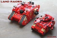 Space Marines Land Raider and Predator by Scharnvirk.deviantart.com on @deviantART