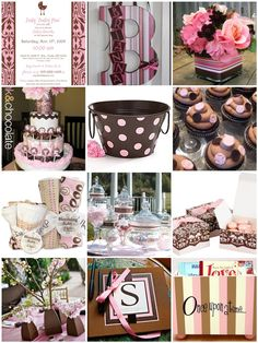 Love pink and brown baby showers