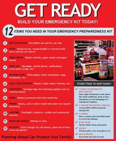 Emergency Kit - yeah, time to think about hurricane season . Hurricane Preparedness Kit, Emergency Preparedness Kit, Emergency Preparation, Emergency Supplies, Emergency Food, In Case Of Emergency, Emergency Planning, Survival, Hurricane Kit