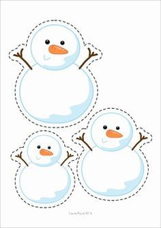 A page from the unit: order by size: snowmen Winter Preschool Centers. Winter Activities For Kids, Winter Crafts For Kids, Winter Kids, Winter Art, Preschool Centers, Preschool Themes, Preschool Activities, Preschool Lessons, Snow Theme