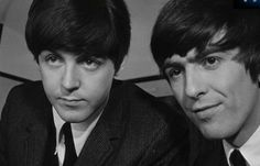 1964 - Paul McCartney and George Harrison .