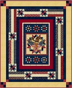 "patriotic quilt patterns | Thread: Free ""American Valor"" patriotic quilt pattern from Marcus"