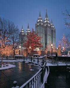 Mormon-Christmas-Temple-Square-Lights.  My favorite Christmas Tradition, to see these lights in downtown Salt Lake City every December!