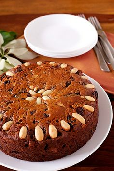 A rich and fruity cake..perfect for the festive season - Eggless Fruit Cake. Merry Christmas to everybody! http://www.divinetaste.com/archives/eggless-fruit-cake/