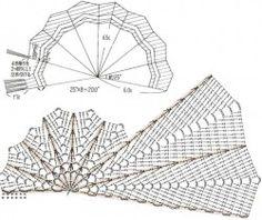 Semicircolare scialle zigzag