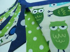 Owl+Bunting/Banner+in+navy+blue+and+lime+by+BettyandBarclay,+$25.00