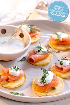 These Blinis with Smoked Salmon and Dill Creme Fraiche make the perfect appetiser for Christmas entertaining