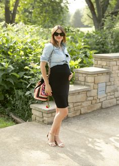 Maternity Hack, #dressthebump, 31 weeks pregnant, third trimester outfit, @whatiwore