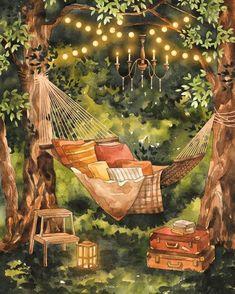 Лежать летним вечером в гамаке и смотреть на звезды, или почитать книгу. Наслаждайтесь моментом 😉 ⠀🌿 Почтовая открытка 10*15см Стоимость -…