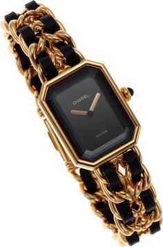 Chanel Premiere Ladies Watch with Classic Gold Chain & Leather Strap