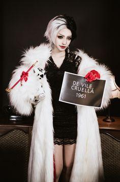 resultado de imagen para cruella de vil disfraz para nia cosplay costumescosplay ideashalloween - Cruella Deville Halloween Costume Ideas